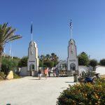 Eingang der Thermen von Kallithea auf der griechischen Insel Rhodos.