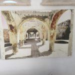 Altes Bild der Thermen von Kallithea auf der griechischen Insel Rhodos.