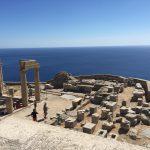 Akropolis von Lindos auf der griechischen Insel Rhodos