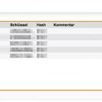 Sophos UTM Blick auf die OTP Token im WebAdmin