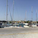 Hafen von Rhodos (Stadt) auf der gleichnamigen Insel.